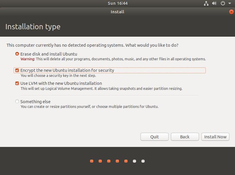 3. Installation Type.