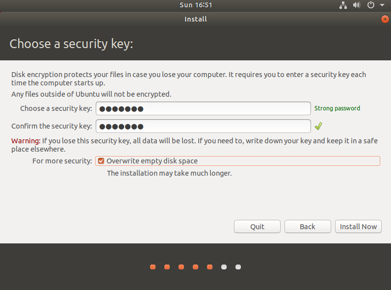 3. Choose a security key: - How To Make Your Computer Ultra Secure
