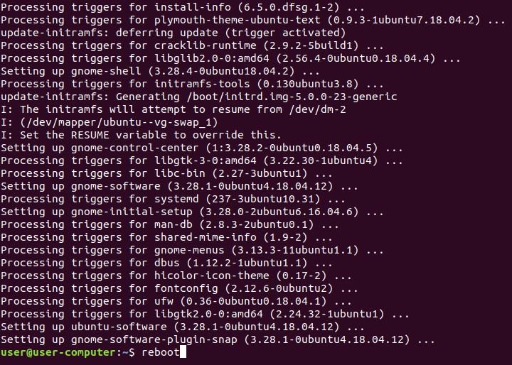 3. Updating the Ubuntu