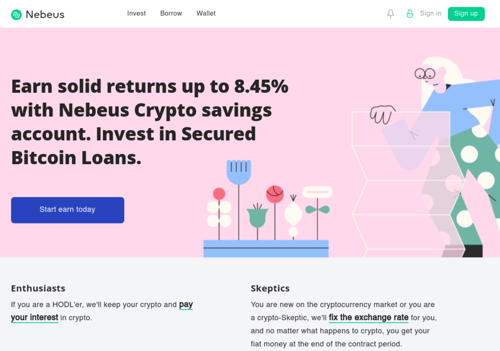 Nebeus Savings Account