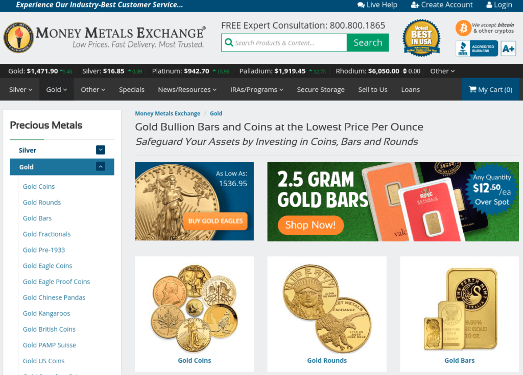 Money Metals Exchange - Buy Physical Gold with Bitcoin