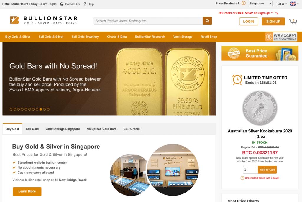 BullionStar - Osta Kultaa Bitcoineilla
