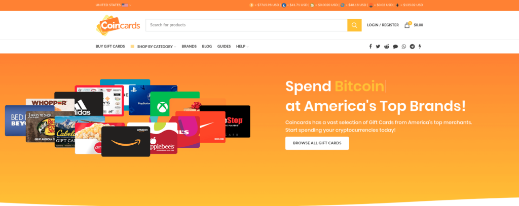 Coincard - Buy Gift Cards with Bitcoin