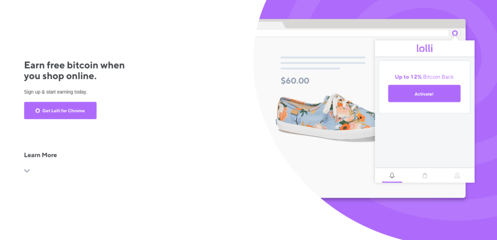 Lolli - Earn Free Bitcoin Shopping Online