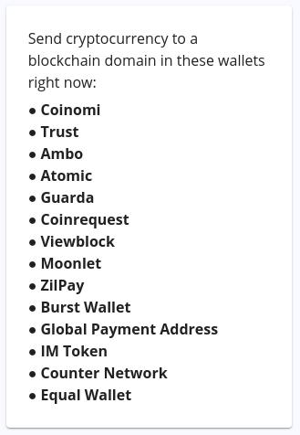 Blockchain domain wallets