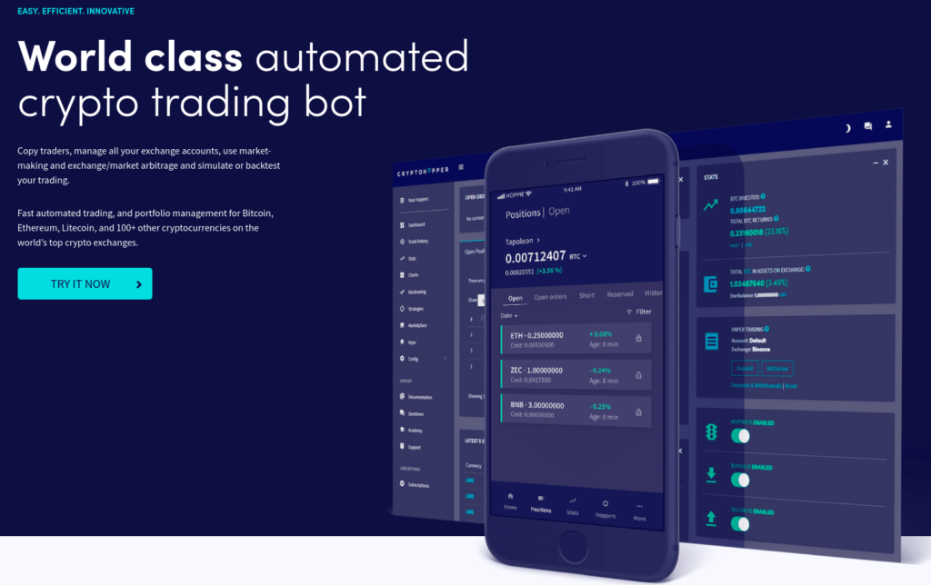 Cryphopper - Automated Bitcoin Trading