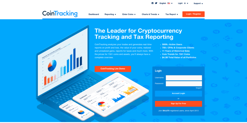 CoinTracking - Best Crypto Tax Software