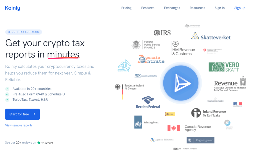 Koinly - Best Crypto Tax Software