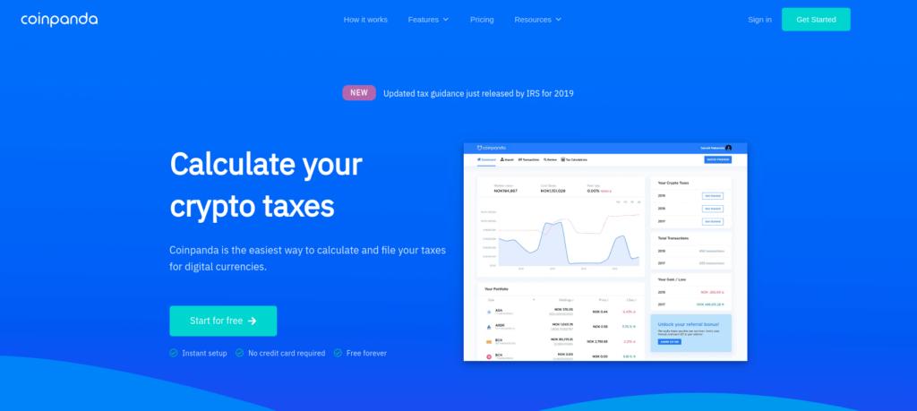 Coinpanda - Best Crypto Tax Software