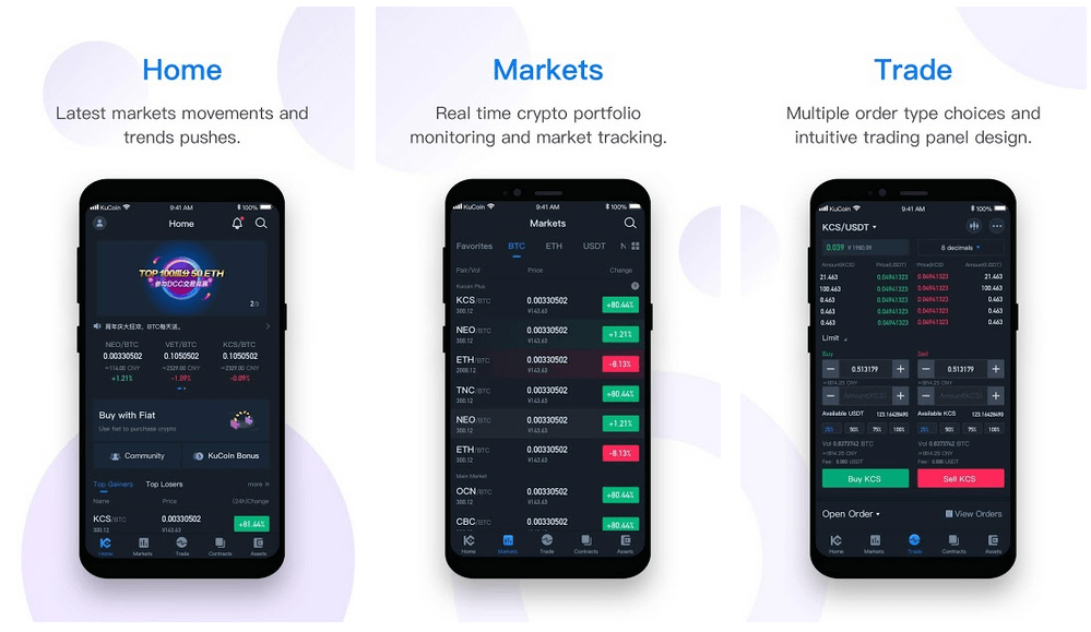 Kucoin - Best Crypto Trading Apps