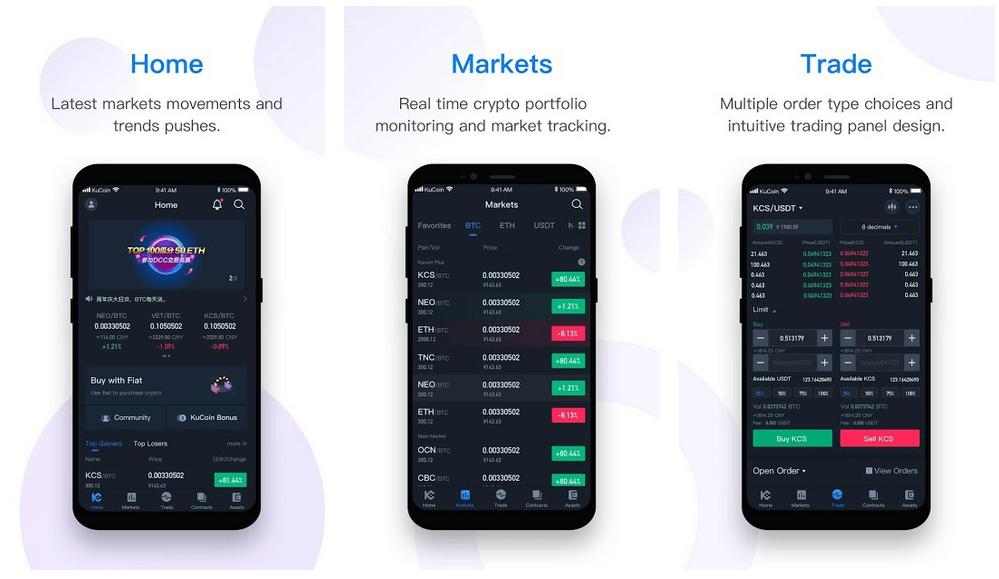 Kucoin - Best Crypto Trading Apps