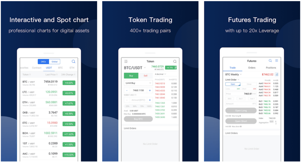 Okex - Best Crypto Trading Apps