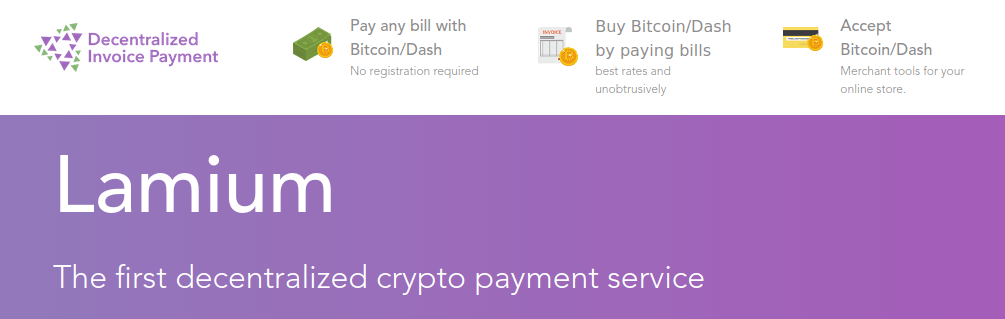 Lamium - Decentralized Way to Pay Bills with Bitcoin