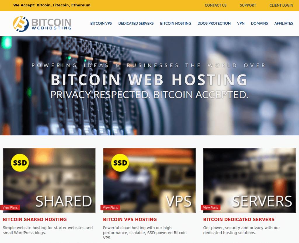 Bitcoin Webhosting - Bitcoin Web Hosting
