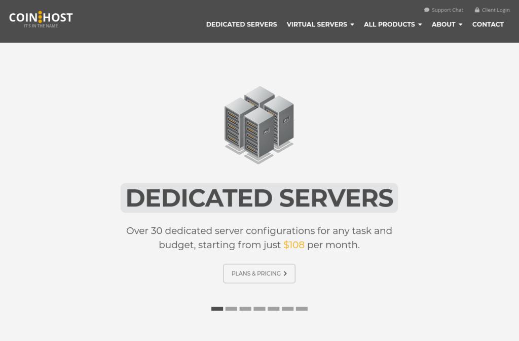 CoinHost - Bitcoin Web Hosting