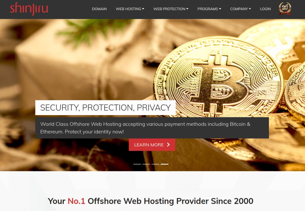 shinjiru - Bitcoin Web Hosting