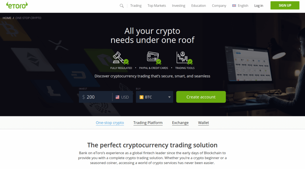 eToro - 6 Best Social Copy Trading Platforms for Cryptocurrency Investors