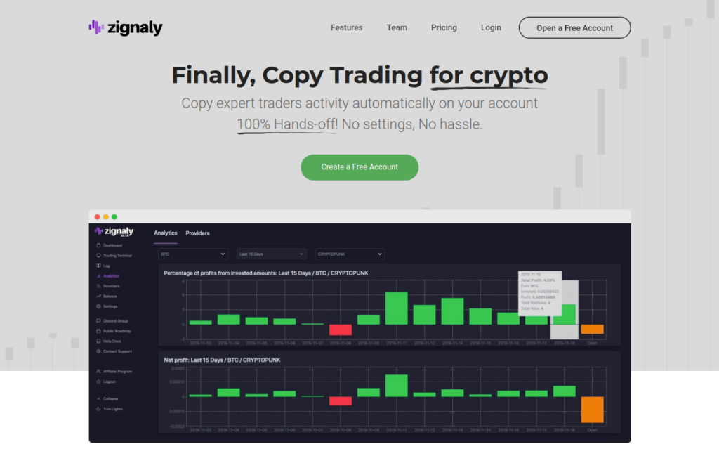 Zignaly - 6 Best Social Copy Trading Platforms for Cryptocurrency Investors