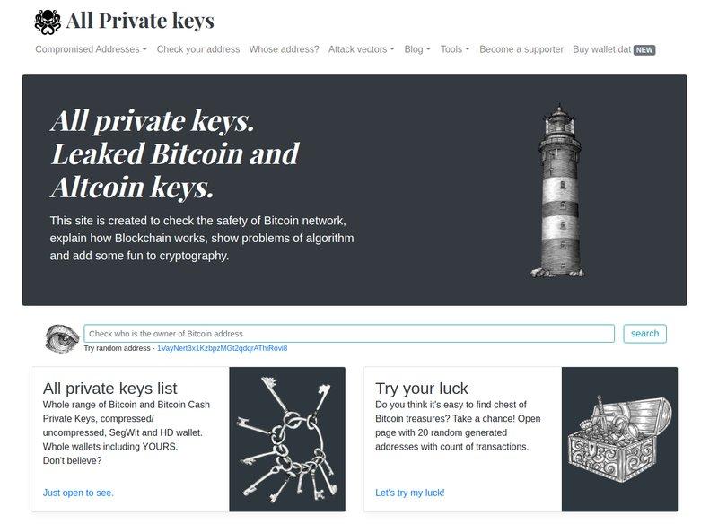 Semua kunci pribadi
