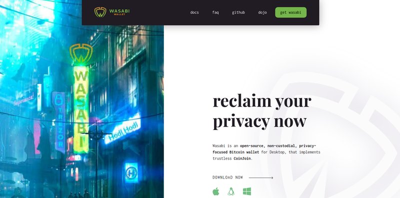 Wasabi Wallet (CoinJoin Software)