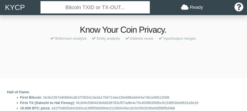 Know Your Coin Privacy (KYCP)