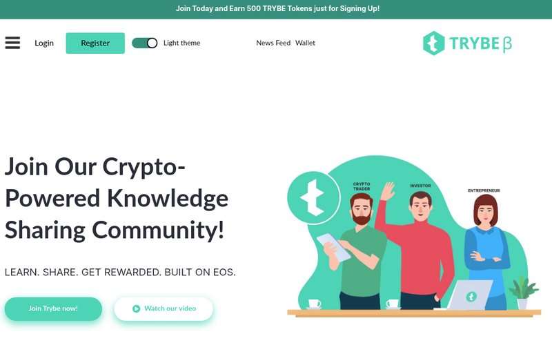 Trybe - powered by EOS blockchain