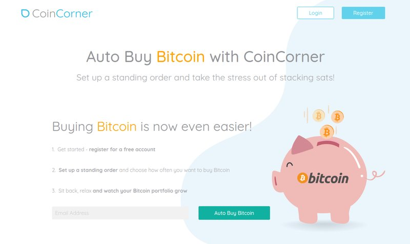 CoinCorner - Beli Bitcoin Secara Otomatis