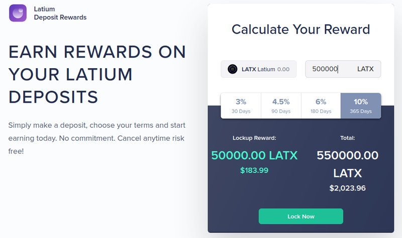 Latium rewards - Cryptocurrency Freelancer
