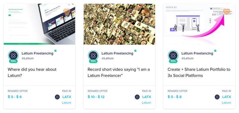 Latium - Cryptocurrency Freelancer